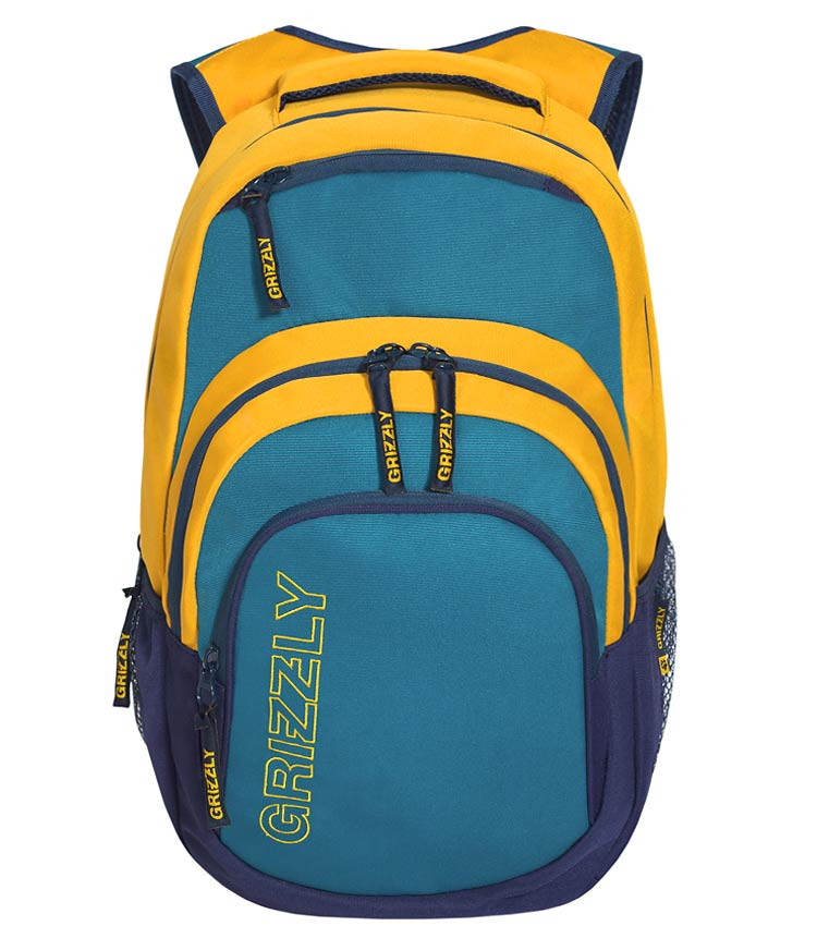 Рюкзак Grizzly RU-704-1 aqua-yellow