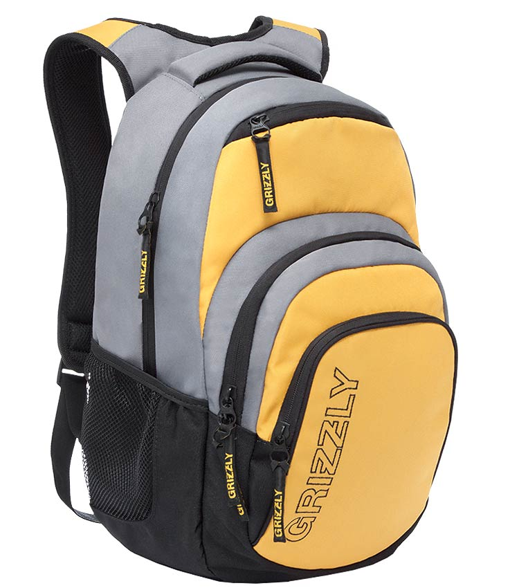 Рюкзак Grizzly RU-704-1 yellow-gray