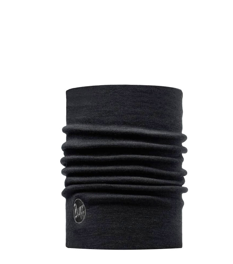Теплый шарф-труба Buff Wool Heavyweight Merino black
