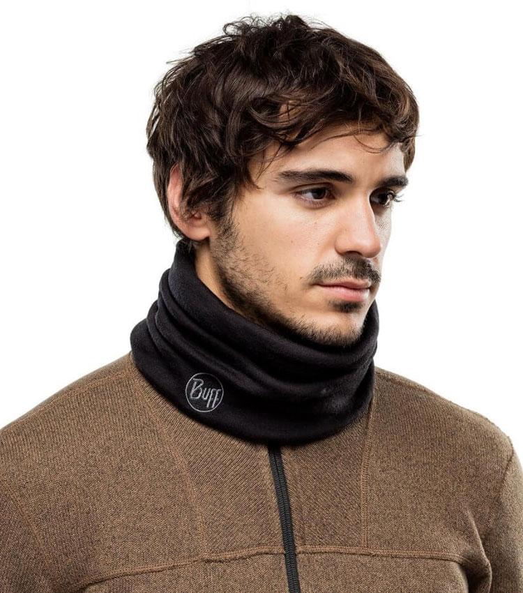 Теплый шарф-труба Buff Wool Heavyweight Merino black