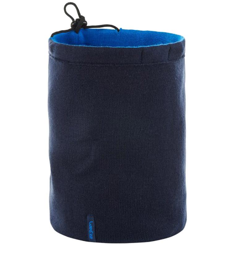 Шарф-труба с завязкой WEDZE navy blue & blue