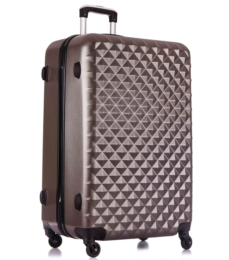 Большой чемодан спиннер L-case Phatthaya Coffee (76 см)