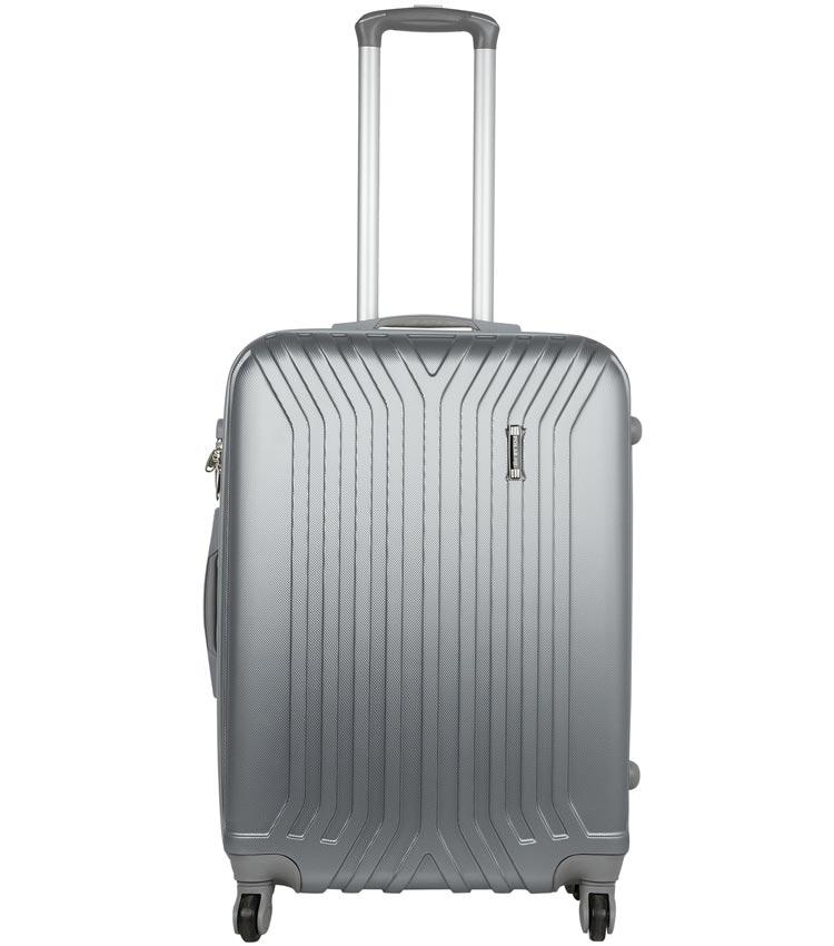 Малый чемодан-спиннер Polar 12032 grey (58 см)