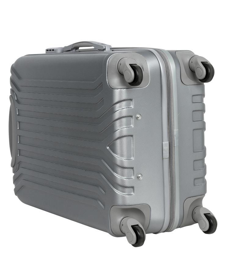 Чемодан-спиннер Polar 12032 grey (66 см - средний)