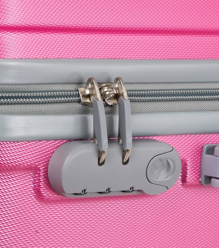 Малый чемодан-спиннер Polar 22016 pink 55 см ~ручная кладь~