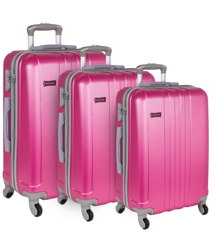 Большой чемодан-спиннер Polar 22016 pink 71 см