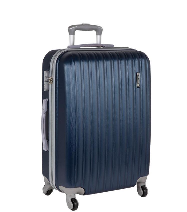 Средний чемодан-спиннер Polar 22031 dark-blue 65 см