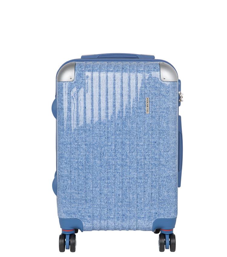 Малый чемодан спиннер Polar Р1011 blue (55 см)