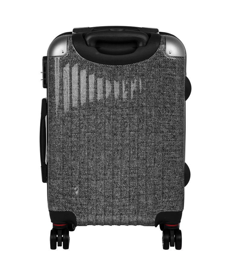 Малый чемодан спиннер Polar Р1011 black (55 см)