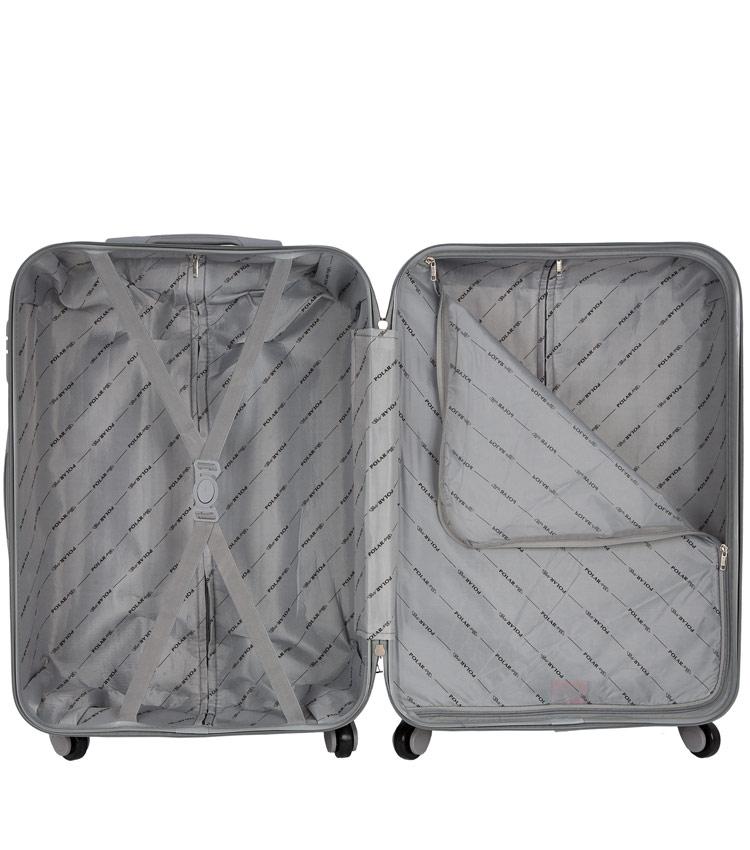 Средний чемодан-спиннер Polar 12031 blue (65 см)