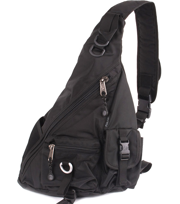 Рюкзак на одной лямке Polar 1378 black