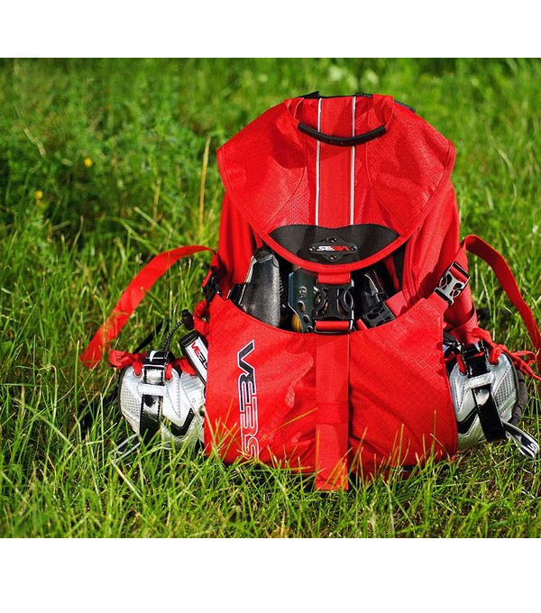 Рюкзак для роликов Seba small красный