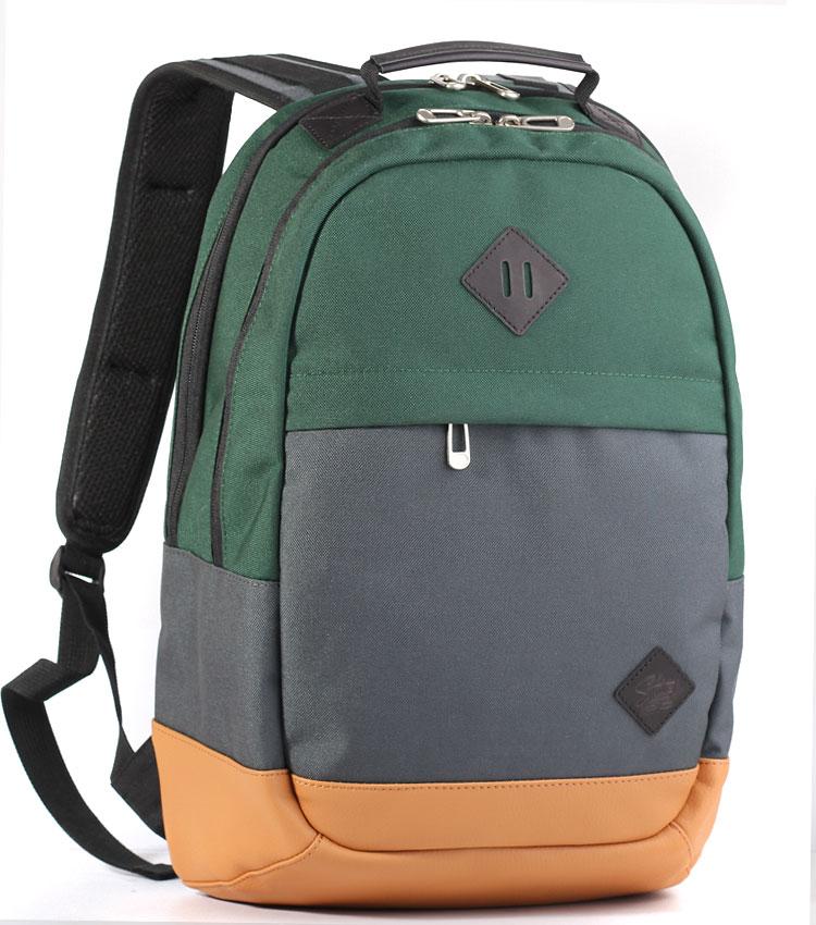Рюкзак Studio58 M9007 green-grey-leather