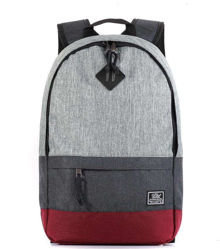 Рюкзак Studio58 M323 jeans-grey-d.grey-bordo