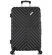 Большой чемодан спиннер L'case New-Delhi black (71 см)