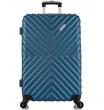 Большой чемодан спиннер L'case New-Delhi dark blue (71 см)