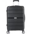 Большой чемодан спиннер L'case Singapore black (78 см)