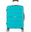 Большой чемодан спиннер L'case Singapore green (78 см)