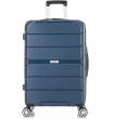 Большой чемодан спиннер L'case Singapore navy (78 см)