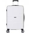 Большой чемодан спиннер L'case Singapore white (78 см)