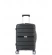 Малый чемодан спиннер L'case Singapore black (57 см)