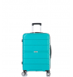 Малый чемодан спиннер L'case Singapore green (57 см)