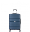 Малый чемодан спиннер L'case Singapore navy  (57 см)