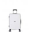 Малый чемодан спиннер L'case Singapore white (57 см)