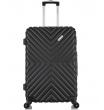 Средний чемодан спиннер L'case New-Delhi black (61 см)