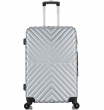 Средний чемодан спиннер L'case New-Delhi gray (61 см)