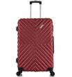 Средний чемодан спиннер L'case New-Delhi red wine (61 см)