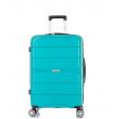 Средний чемодан спиннер L'case Singapore green (68 см)