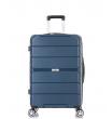 Средний чемодан спиннер L'case Singapore navy (68 см)