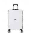 Средний чемодан спиннер L'case Singapore white (68 см)