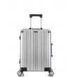 Малый чемодан спиннер L'case Abu Dhabi silver (58 см)