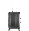 Малый чемодан спиннер L'case Milan black (58 см)