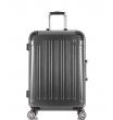Средний чемодан спиннер L'case Milan black (68 см)