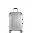 Малый чемодан спиннер L'case Milan silver (58 см)