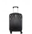 Малый чемодан спиннер L'case Phuket black 60 см