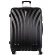 Большой чемодан спиннер L'case Phuket black (76 см)