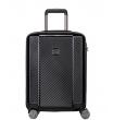 Средний чемодан спиннер Transworld 17230 black (66 см)