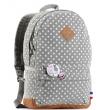 Женский рюкзак Bonjour серый с точками