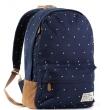 Женский рюкзак Bonjour dots темно-синий