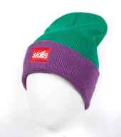 Шапка Skills Script green-purple