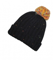 Зимняя шапка с помпоном Soul-Hats black