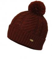 Женская шапка с помпоном WAG PB15 bordo