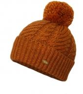 Женская шапка с помпоном WAG PB15 brown