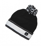Зимняя шапка с помпоном Burton black-white