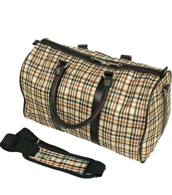 Дорожная сумка Polar 6096 мелкая клетка