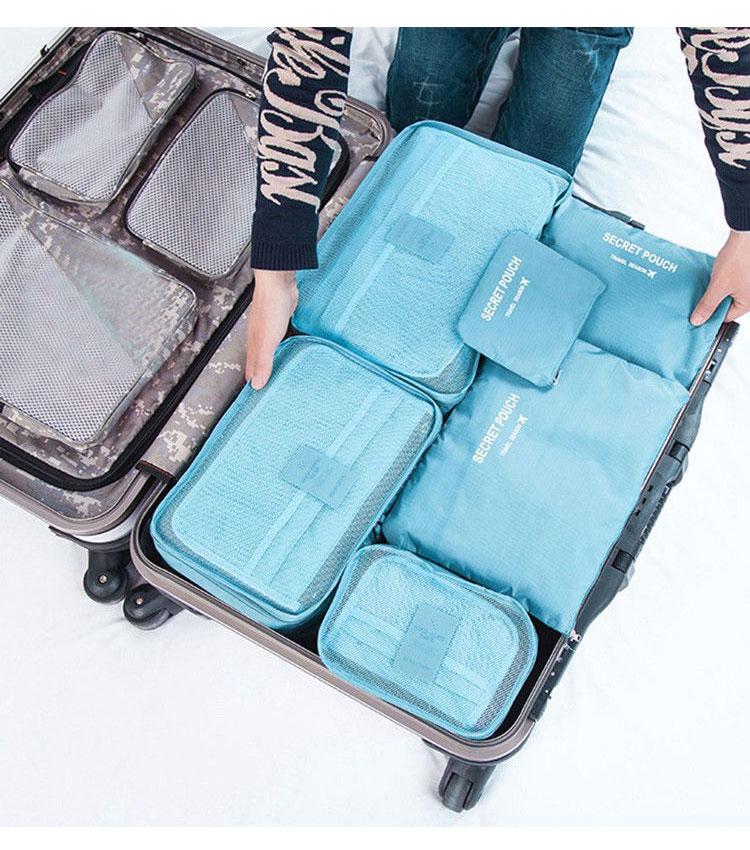 Набор сумок для чемодана Emkertion SP-6 aqua